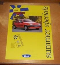 FORD FIESTA FRESCO SUMMER SPECIALS SALES LEAFLET August 1991 FA 1019