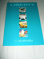 Subaru Liberty range brochure c1999 Australian market