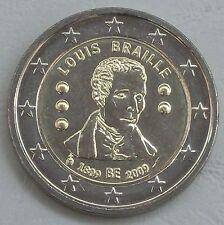 2 euro Belgio 2009 Louis Braille unz