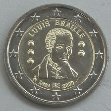 2 Euro Belgien 2009 Louis Braille unz
