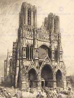 AUGUSTE LEPERE FRENCH REIMS CATHEDRAL OLD ART PAINTING POSTER PRINT BB4885B