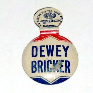 1944 THOMAS E. DEWEY TAB campaign political presidential pinback button election
