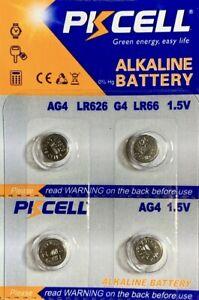 AG4 LR626 PKCELL Battery (4 piece)  LR66 377 377A 626 177 V377 US Seller