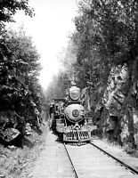 """1900-1906 Train in the Green Mts., Vermont Vintage Photograph 8.5"""" x 11"""" Reprint"""