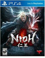 PLAYSTATION 4 PS4 VIDEO GAME NIOH BRAND NEW AND SEALED