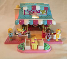 Vintage Polly Pocket Bluebird 1993 Pizzeria Pizza Parlor With 4 Figures