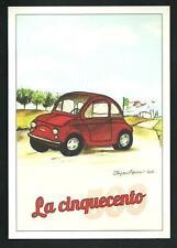 La Cinquecento ( Fiat 500 ) - disegno di Stefano Ramunno - cartolima