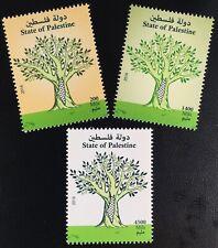 Palästina State of Palestine 2016 Nr. 377-79 Freimarken Baum Flora Baummotiv