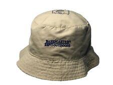 BassMasters Fishing Hat Bucket Cap Mens Hats ESPN Ed Bassmaster Zipper Pocket