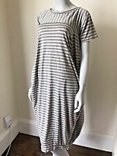 LAGENLOOK LMT Italian Soft Cotton Stripy Dress UK 8 10 12 14 16 18 NEW QUIRKY