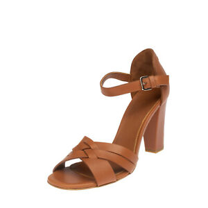 RRP €725 LORO PIANA Leather D'Orsay Sandals EU 37.5 UK 4.5 US 7.5 Made in Italy