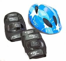 Sport Direct™ Mountain Bicycle Helmet & Saftey Pads Set Childrens Childs Boys