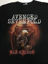 AX7 Avenged Sevenfold All Excess Double graphic Shirt Size L
