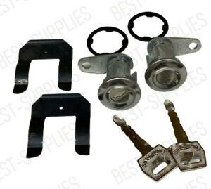 Door Lock Key Cylinder Tumbler Set 2 Keys for Ford F Series