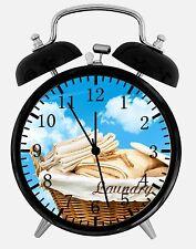 "Laundry Alarm Desk Clock 3.75"" Home or Office Decor E431 Nice For Gift"