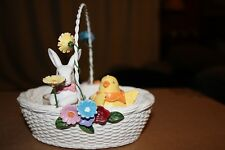 YANKEE CANDLE DOUBLE TEALIGHT HOLDER  SPRING BASKET BUNNY DUCK FLOWERS