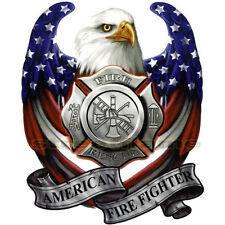 AMERICAN USA FLAG EAGLE DECAL STICKER EMBLEM GRAPHIC HELMET FIRE DEPARTMENT