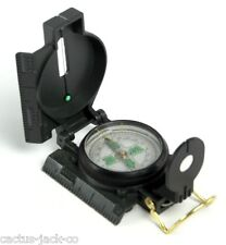 NEW HQ BRAND LIQUID-FILLED MILITARY STYLE ALL-METAL COMPASS