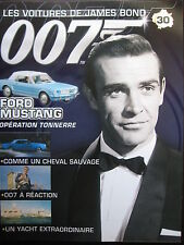FASCICULE 30 JAMES BOND  POSTER FORD MUSTANG  OPERATION TONNERRE