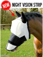 GEE TAC FLY MASK FLY RUG HEAVY DUTY EYE CLEARANCE  WHITE REFLECTS UV SUN LIGHT