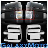 08-15 Super Duty Side Turn Lights LED CLEAR Lens Replacement+Chrome Mirror Cover