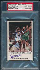 1987 HORACE GRANT AUTO ENTENMANN'S BULLS CARD BLANK BACK PSA/DNA #25890965