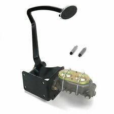 40-48 Chevy Manual Brake Pedal kit Disk/DrumLg Oval Chr Pad rod street v8 pro