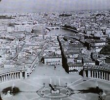 Rome, from St. Peter's Balcony, Rome, Italy, Glass Magic Lantern Photo Slide