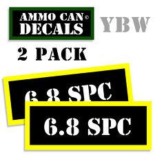 6.8 SPC Ammo Label Decals Box Stickers decals - 2 Pack BLYW