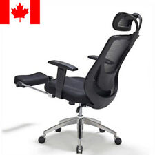 Moustache® Adjustable Mesh Office Chair with Footrest - Black