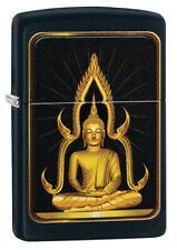 ZIPPO LIGHTER BLACK MATTE TEMPLE (99382) GIFT BOXED - AU STOCK !