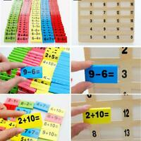 110pcs Wooden Domino Block Montessori Preschool Education Math Toys for Kid