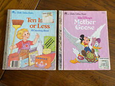 Lot of 2: Little Golden Books Ten Items or Less & Disney's Mother Goose