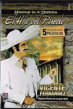 Vicente Fernandez Homenaje en su despedida 5 PELICULAS DVD NEW Los Super Exitos