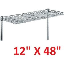 "METRO 12"" X 48"" SUPER ERECTA HEAVY-DUTY CANTILEVER STYLE WIRE SHELVING **XLNT**"