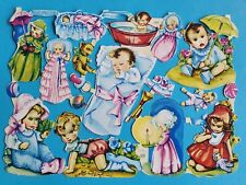 MLP  ORIGINAL  VINTAGE SCRAPS BABIES  SHEET NO 1600  9,1/2 X  6, IN