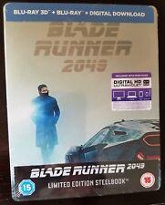 Blade Runner 2049 3D + 2D Blu-Ray Limited Ed. Uk Exclusive Steelbook Region Free