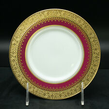 Faberge Imperial Heritage Bread & Butter Plate Limoges Porcelain Red & 24K Gold