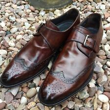 RUSSELL & BROMLEY BROWN MONK STRAP SHOES SIZE 7:5uk 41.5euro. EXCELLENT