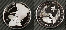 1993 Guinea Bissau Silver Proof 10000 Pesos-Elephant
