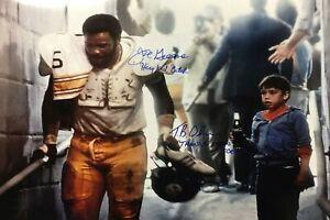 Reprint Mean Joe Greene Autographed Pittsburgh Steelers 4x6 Fridge Man Cave Coke