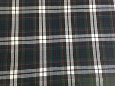 Fabric School Uniform Plaid Navy White 4 yards