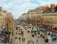 Boulevard Montmartre Painting by Camille Pissarro Reproduction