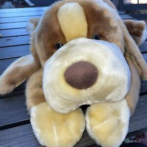 """Animal Alley Large Darby Dog Brown Golden Tan Floppy Toys R Us Plush Puppy 24"""""""