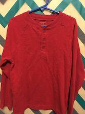 Boys Red Long Sleeve Shirt Size Medium 5/6