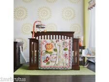 14-Pc Cocalo Sydney Girl's Jungle CRIB BEDDING Set Lion Giraffe Birds Flowers