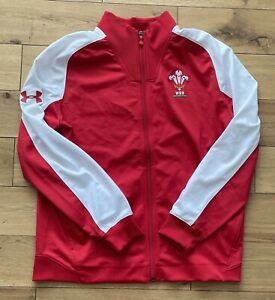 Under Armour Men's Wales WRU Rugby Track Jacket New Size L