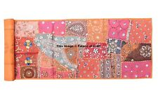 Indian Handmade Ethnic Embroidered Wall Hanging Tapestry Beaded Wall Decorative
