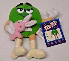"Nanco 2001 Mars M&M's Green 6.5"" Small Stuffed Beanbag Plush w/Easter Bunny"