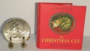 1:6 SCALE MINIATURE BOOK THE CHRISTMAS CAT TASHA TUDOR PLAYSCALE BARBIE